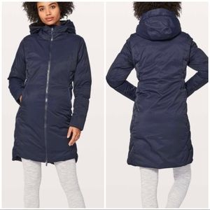 Nwt lululemon fluff the cold parka jacket inkwell